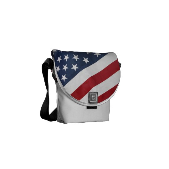 American Flag Rickshaw Bag Messenger Bag