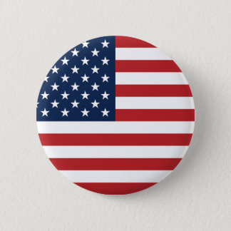 American Flag Round Button