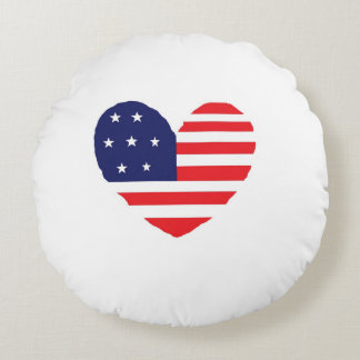 American Flag Round Pillow