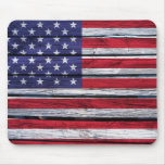American Flag Rustic Wood Mousepads