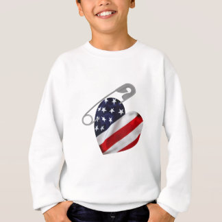 American Flag Safety Pin Sweatshirt
