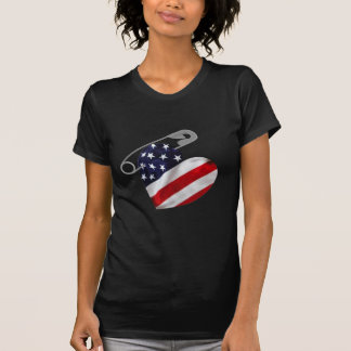 American Flag Safety Pin T-Shirt