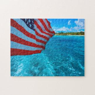 American Flag. Saipan Mariana Islands. Jigsaw Puzzle