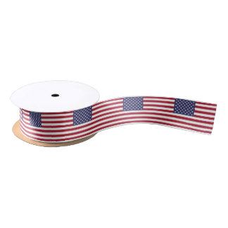 American Flag Satin Ribbon