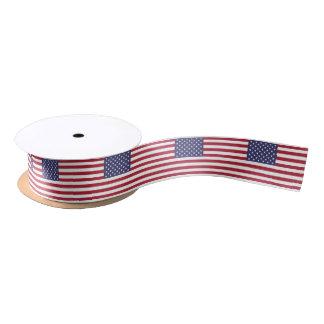 American Flag Satin Ribbon