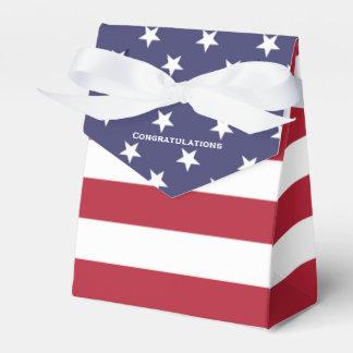 American Flag Secret Graduation Box Favor Box