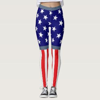 American Flag Shorts Leggings