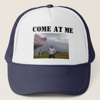 "American Flag Shotgun Guy ""COME AT ME"" Trucker cap"