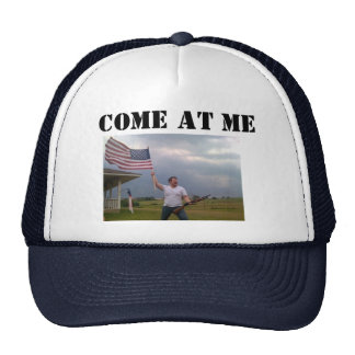 "American Flag Shotgun Guy ""COME AT ME"" Trucker cap Trucker Hat"