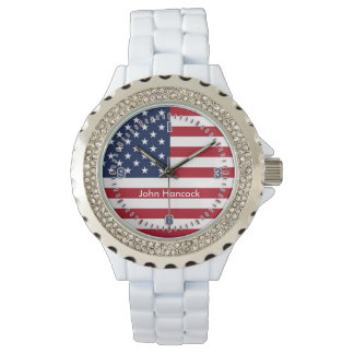 American Flag Signature Wrist Watch