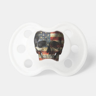American flag skull baby pacifiers