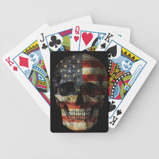 American flag skull bicycle playing cards
