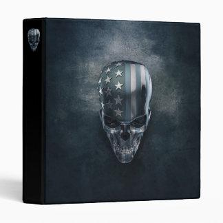 American Flag Skull Binder