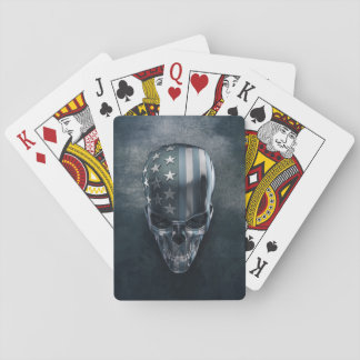 American Flag Skull Playing Cards