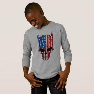 American Flag Skull T-Shirt