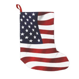 American Flag Small Christmas Stocking