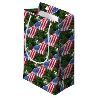 American Flag Small Gift Bag