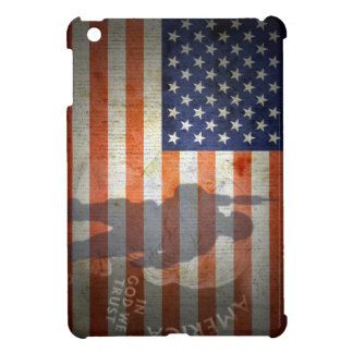 American Flag Soldier Trust God iPad Mini Case