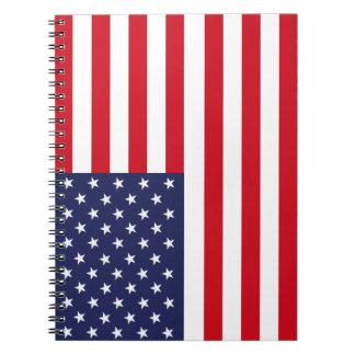 American flag spiral notebook