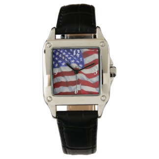 American Flag - Square Watch