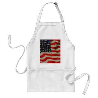 American flag standard apron