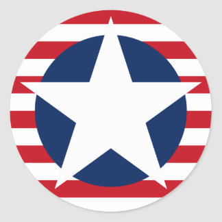 American Flag Star and Stripes Patriotic Classic Round Sticker