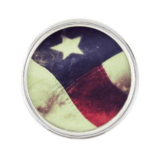 American flag star lapel pin