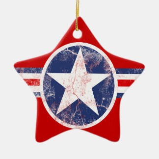 American Flag Star Red White and Blue Ornament