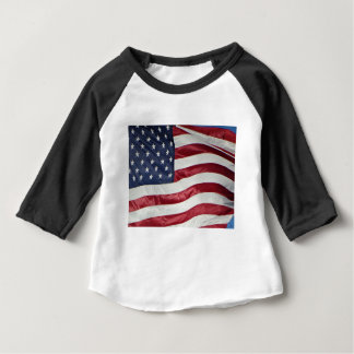 American Flag,Star Spangled Banner red white blue Baby T-Shirt