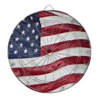 American Flag,Star Spangled Banner red white blue Dartboard