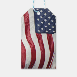 American Flag,Star Spangled Banner red white blue Gift Tags