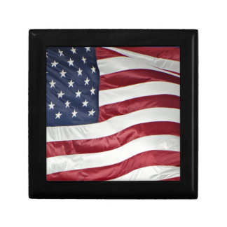 American Flag,Star Spangled Banner red white blue Keepsake Boxes