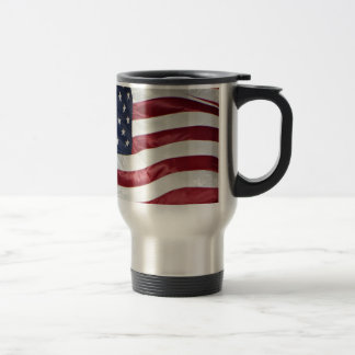 American Flag,Star Spangled Banner red white blue Travel Mug