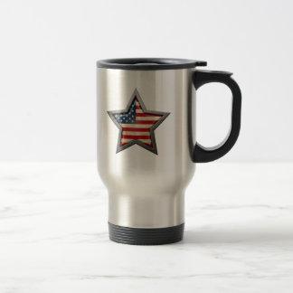American Flag Star Travel Mug