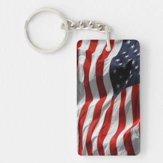 American Flag Stars and Stripes Keychain