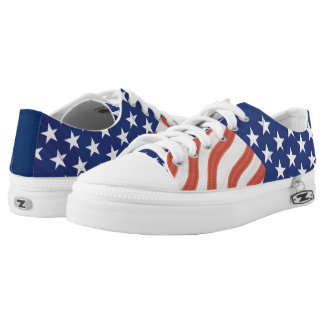 American Flag Stars and Stripes Low-Top Sneakers