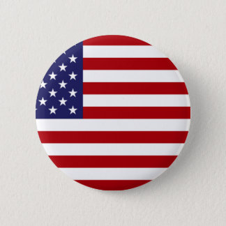 American Flag - Stars and Stripes - Old Glory 2 Inch Round Button