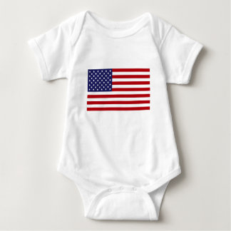 American Flag - Stars and Stripes - Old Glory Baby Bodysuit