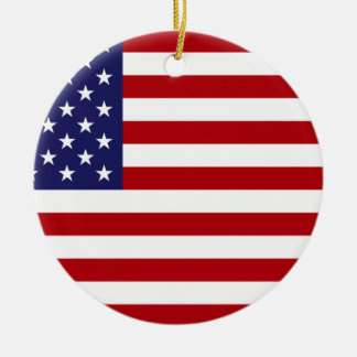 American Flag - Stars and Stripes - Old Glory Ceramic Ornament