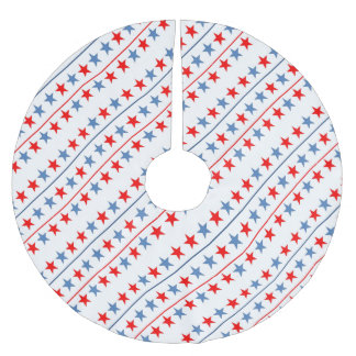 american-flag-stars-background brushed polyester tree skirt