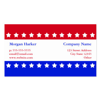 American Flag Stars Red White Blue Business Pack Of Standard Business Cards