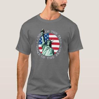 American Flag Statue Liberty Tee