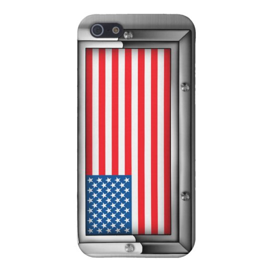 American Flag (Steel) iPhone 5/5S Cover