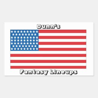 American Flag sticker (4.5x2.7)