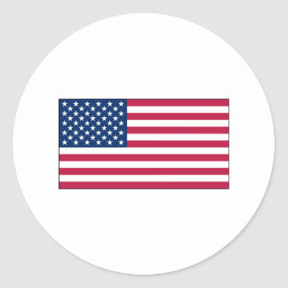 American Flagsticker sheets Classic Round Sticker