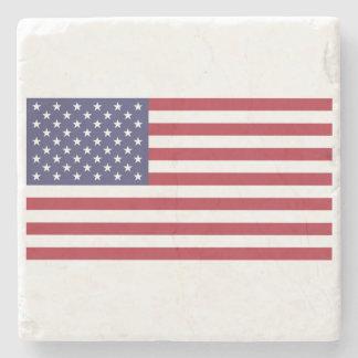 American Flag Stone Coaster