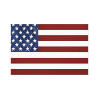 American Flag Stretched Canvas