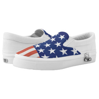 American Flag style print Slip-On Sneakers