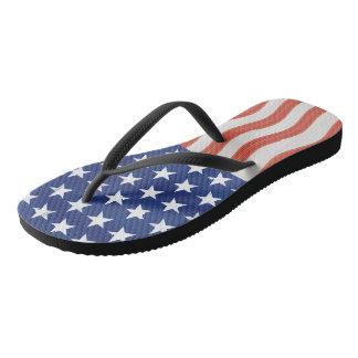 American flag stylized design flip flops