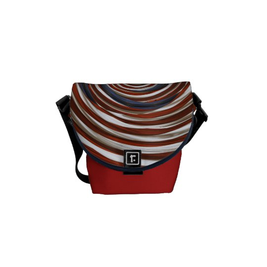 American Flag Swirl Messenger Bag